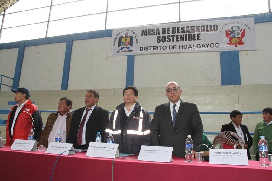 Viceministros de Minas, de Ambiente y de Construcción y Saneamiento instalaron mesa de desarrollo en Hualgayoc, Cajamarca (Foto: Andina)