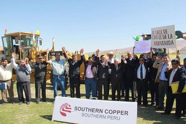 PCM destaca ejecución de acuerdos entre Southern y provincia de Jorge Basadre