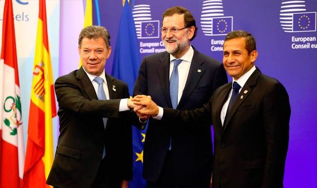 Reunión trilateral entre los presidentes de Perú, Ollanta Humala; Colombia, Juan Manuel Santos; y España, Mariano Rajoy; en Bruselas (Bélgica).  | Foto: Presidencia Perú