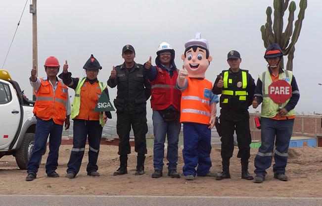 Consorcio Sade-Cosapi inicia nueva campaña de seguridad vial para reducir los accidentes de tránsito en Pachacútec