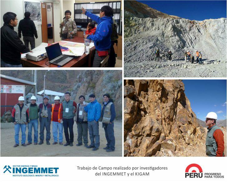 Ingemmet realiza investigación con servicio geológico de Corea