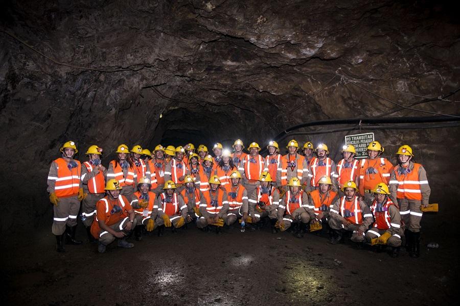 Visita a mina de líderes de comunidades en zonas de influencia minera. Foto: MEM.