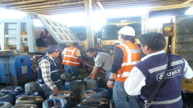 La incautación se realizó en el sector conocido como La Pampa. (Foto: Manuel Calloquispe)