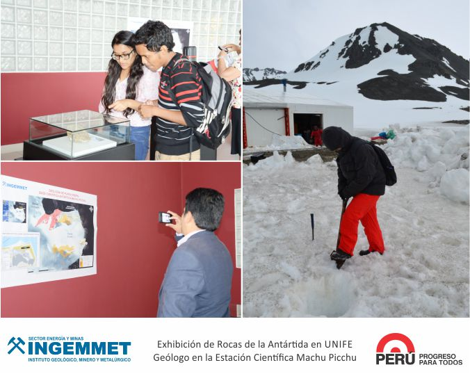 INGEMMET realizará exhibición antártica en el Museo de Minerales Andrés del Castillo