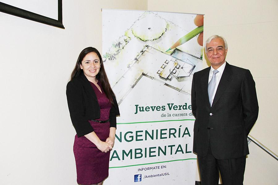 Ing. Johanna Poggi y el Sr. Carlos Gálvez Pinillos