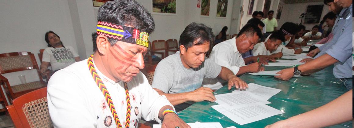 MEM y pueblos indígenas firman el quinto acuerdo durante proceso de consulta previa en el lote 192