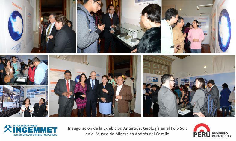 INGEMMET Inicia exhibición antártica en museo Andrés Del Castillo