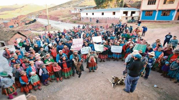 Mañana se iniciará el diálogo en Cotabambas en medio del anuncio de una nueva paralización. (Foto: Lino Chipana / El Comercio)