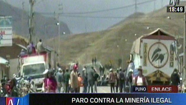 Puno: Habitantes bloquearon vía interoceánica por contaminación del Río Ramis. (Canal N)