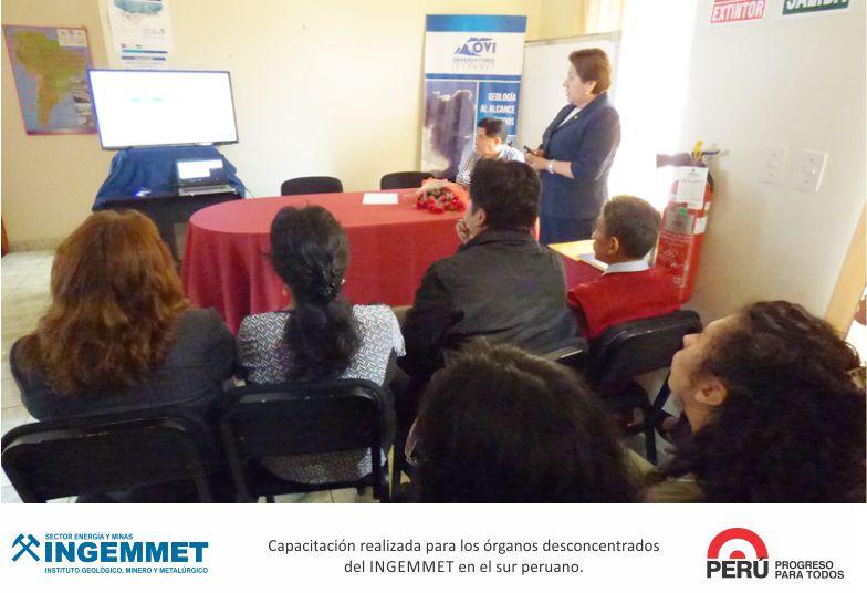 INGEMMET Segunda fecha de capacitación en el sur del Perú