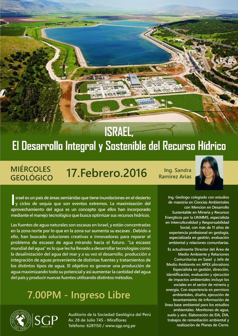 Israel el desarrollo integral y sostenible del recurso hídrico
