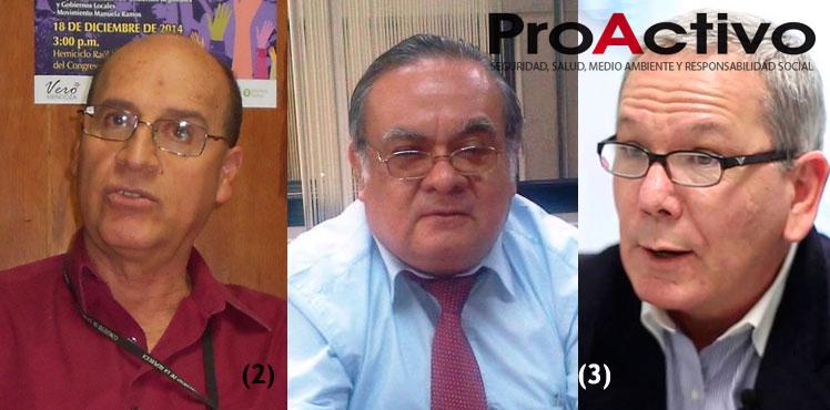 NO CALLAN NADA. (1) Juan Aste, aspirante al al Congreso de la mano con Verónika; (2) Jorge Manco, asesor gubernamental a la expectativa y (3) Carlos Adrianzén, el economista mediático de las mass media.