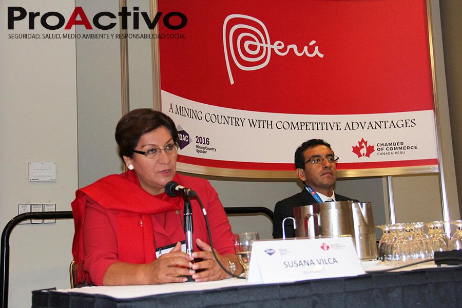 Susana Vilca, presidenta del INGEMMET