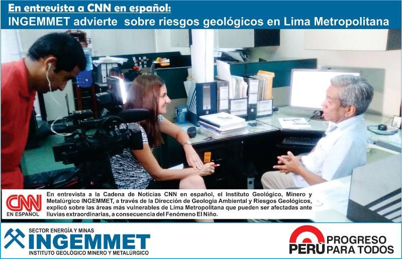 INGEMMET advierte sobre riesgos geológicos en Lima Metropolitana