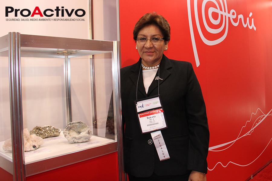 Susana Vilca, presidenta del INGEMMET (Foto: ProActivo).