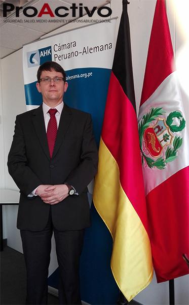 Dr. Jan Patrick Häntsche, gerente de Comercio Exterior, Innovación y Tecnología de la Cámara de Comercio e Industria  Peruano-Alemana (Foto: ProActivo).