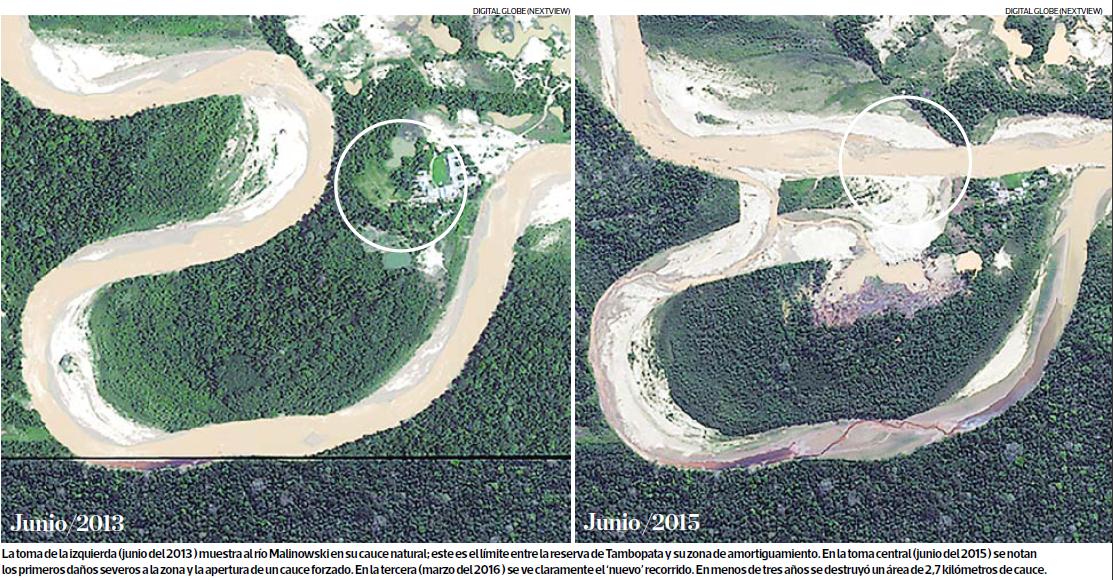 Foto: El Comercio/Digital Globe (Next View). Edición Impresa Páginas 10 y 11