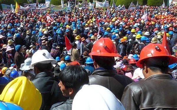 huelga trabajador minero