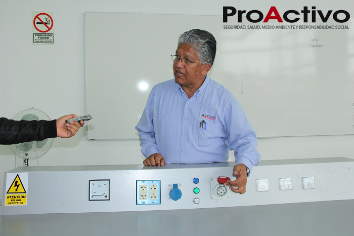 Luis Alberto Visitación, director del programa de mantenimiento eléctrico e instrumentación de CETEMIN (Foto: ProActivo).