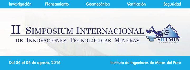 II Simposio Internacional de innovaciones tecnológicas mineras