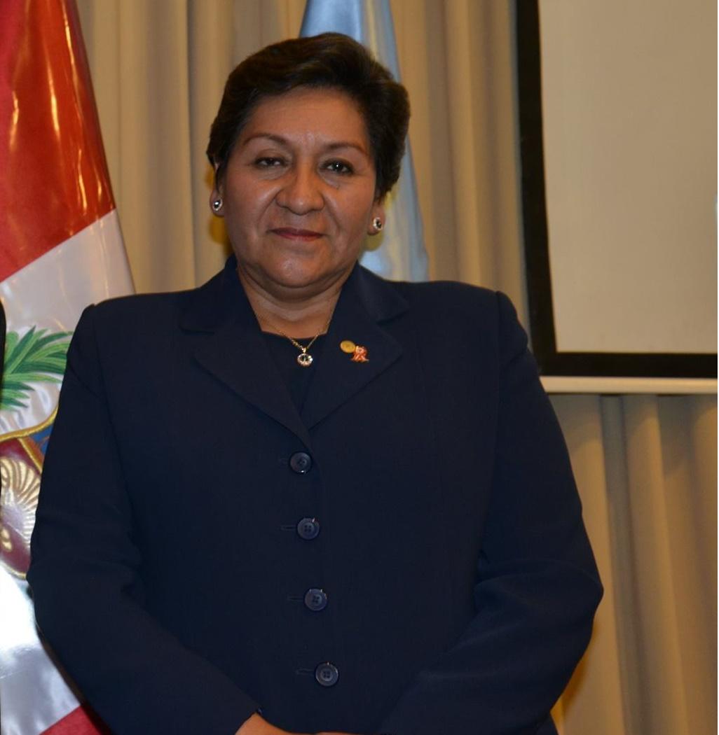 Presidenta del INGEMMET Susana Vilca