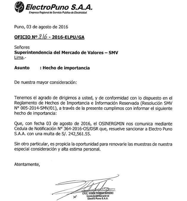 Documento: SMV