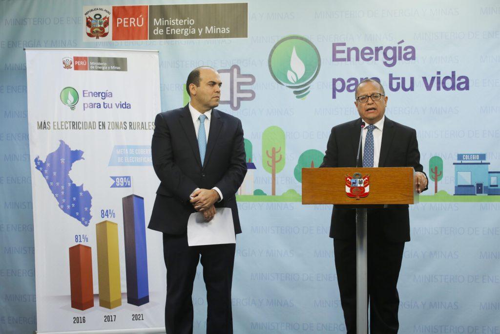 Fernando Zavala ,Presidente del Consejo de Ministros, y Gonzalo Tamayo, Ministro de Energía y Minas  (Foto: MINEM)