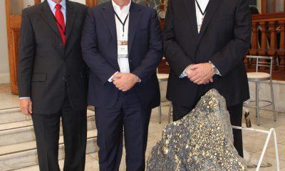 Altos directivos de Pembrook Mining: Bruce Harvey, Vicepresidente Ejecutivo & Presidente de Sudamérica; Brian Booth, Presidente y CEO; y Daniel Innes, Director, Presidente del Comité de Salud, Seguridad, Medio Ambiente y Comunidad. (Foto: ProActivo)
