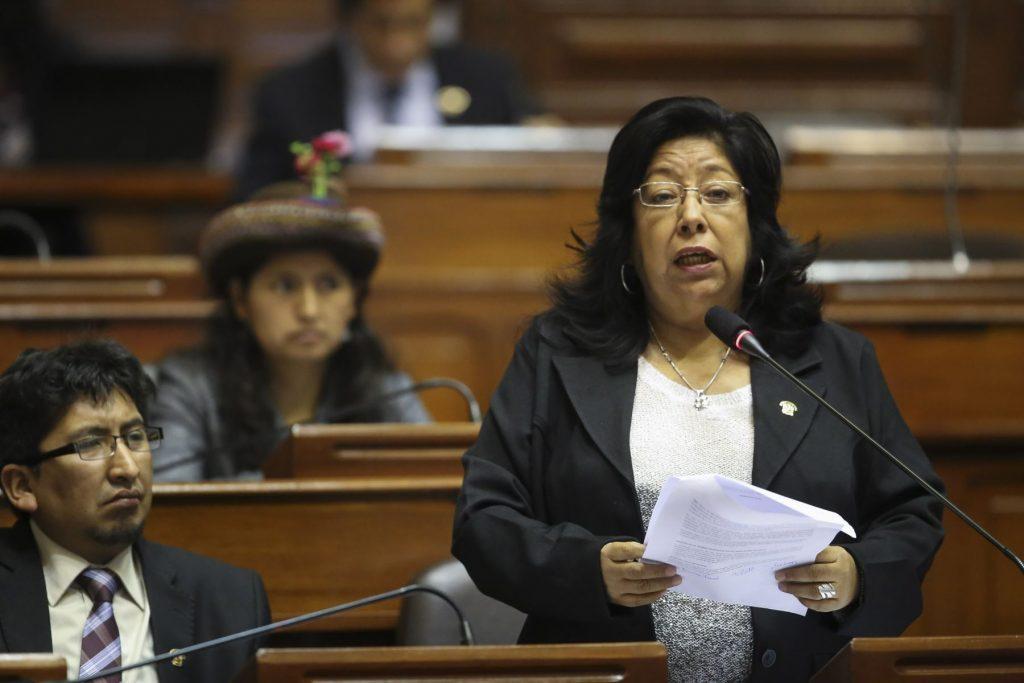 Maria Elena Foronda, congresista / Foto: Andina