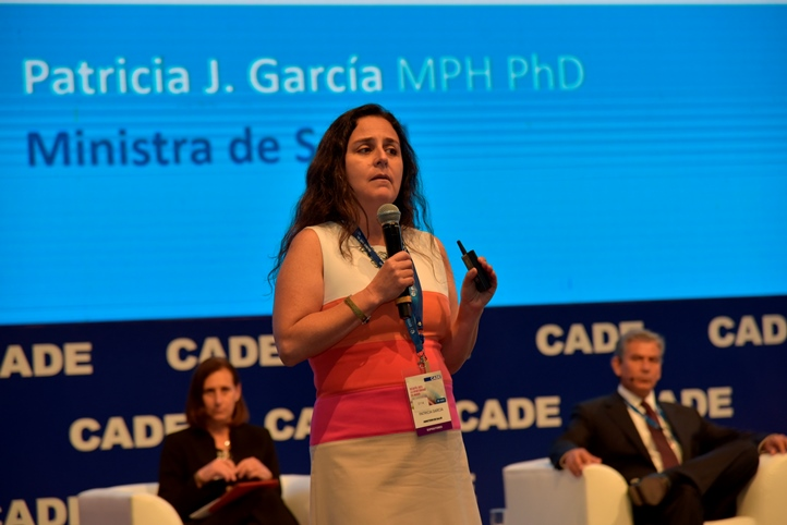 Patricia García, Ministra de Salud / Foto: CADE