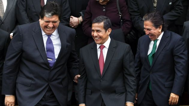 Alan García, Ollanta Humala y Alejandro Toledo / Foto: Perú 21