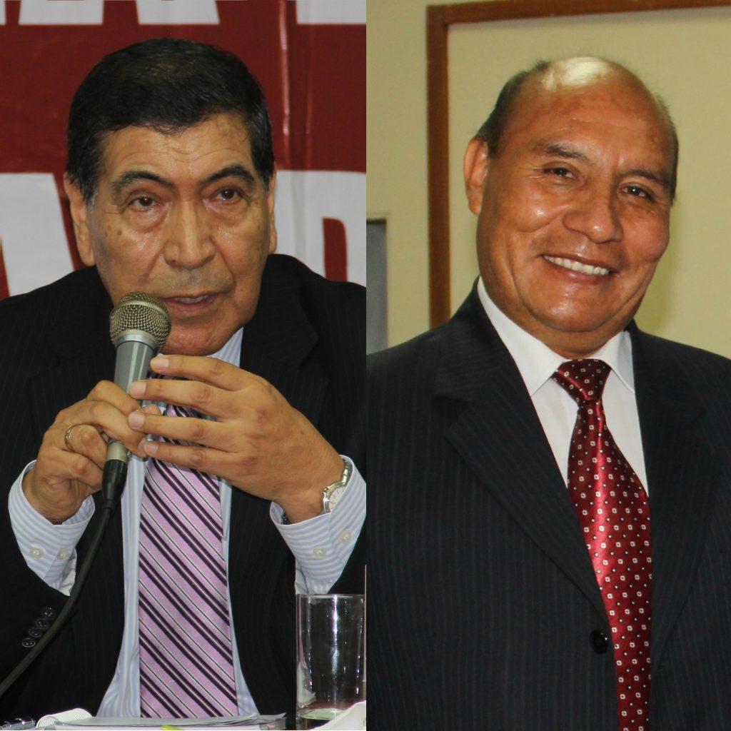 Ingenieros Luis Ríos y Valentín Choquenaira