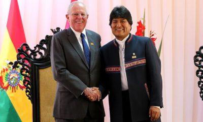 Reunión bilateral de los presidentes Pedro pablo Kuczynski y Evo Morales en Sucre