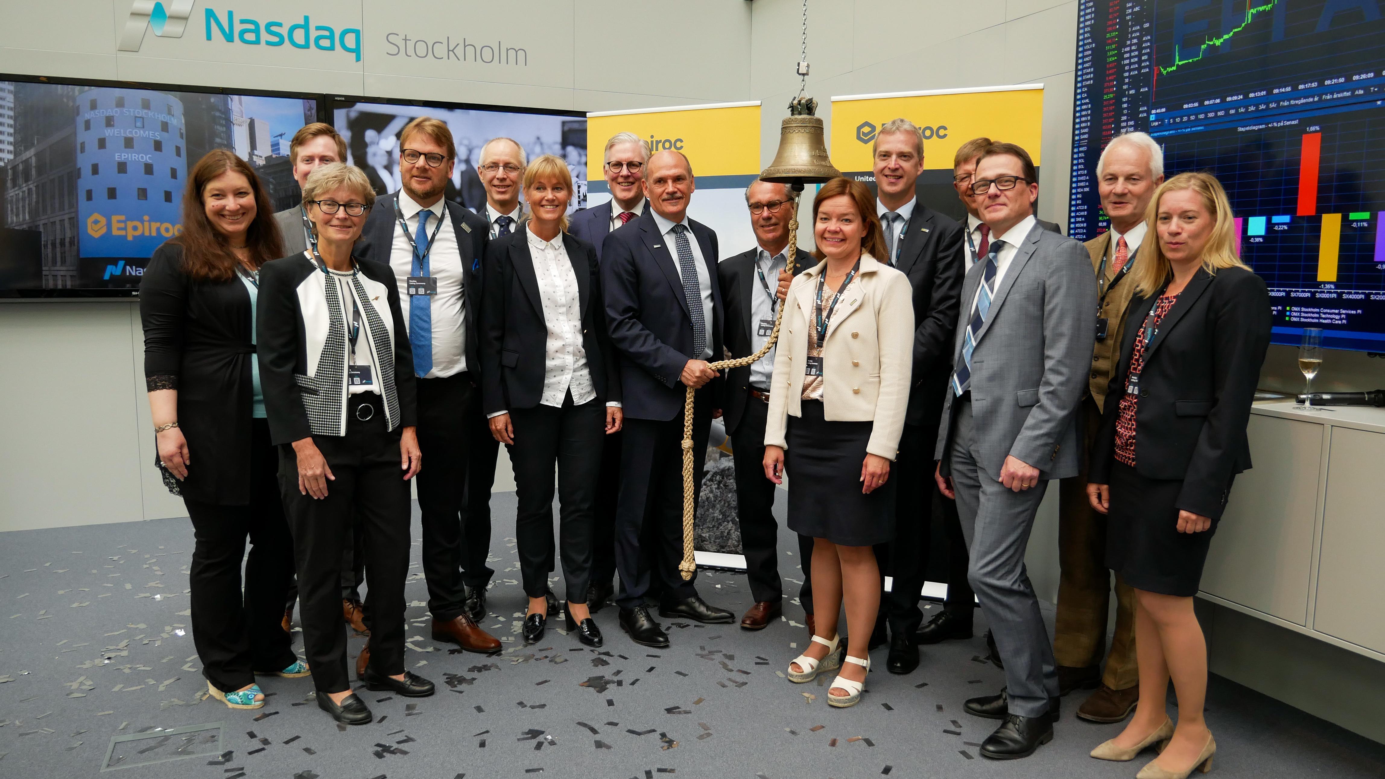 Las acciones de Epiroc AB, socio líder de productividad en las industrias de minería, infraestructura y recursos naturales, se lanzan hoy al mercado bursátil de Nasdaq Estocolmo.
