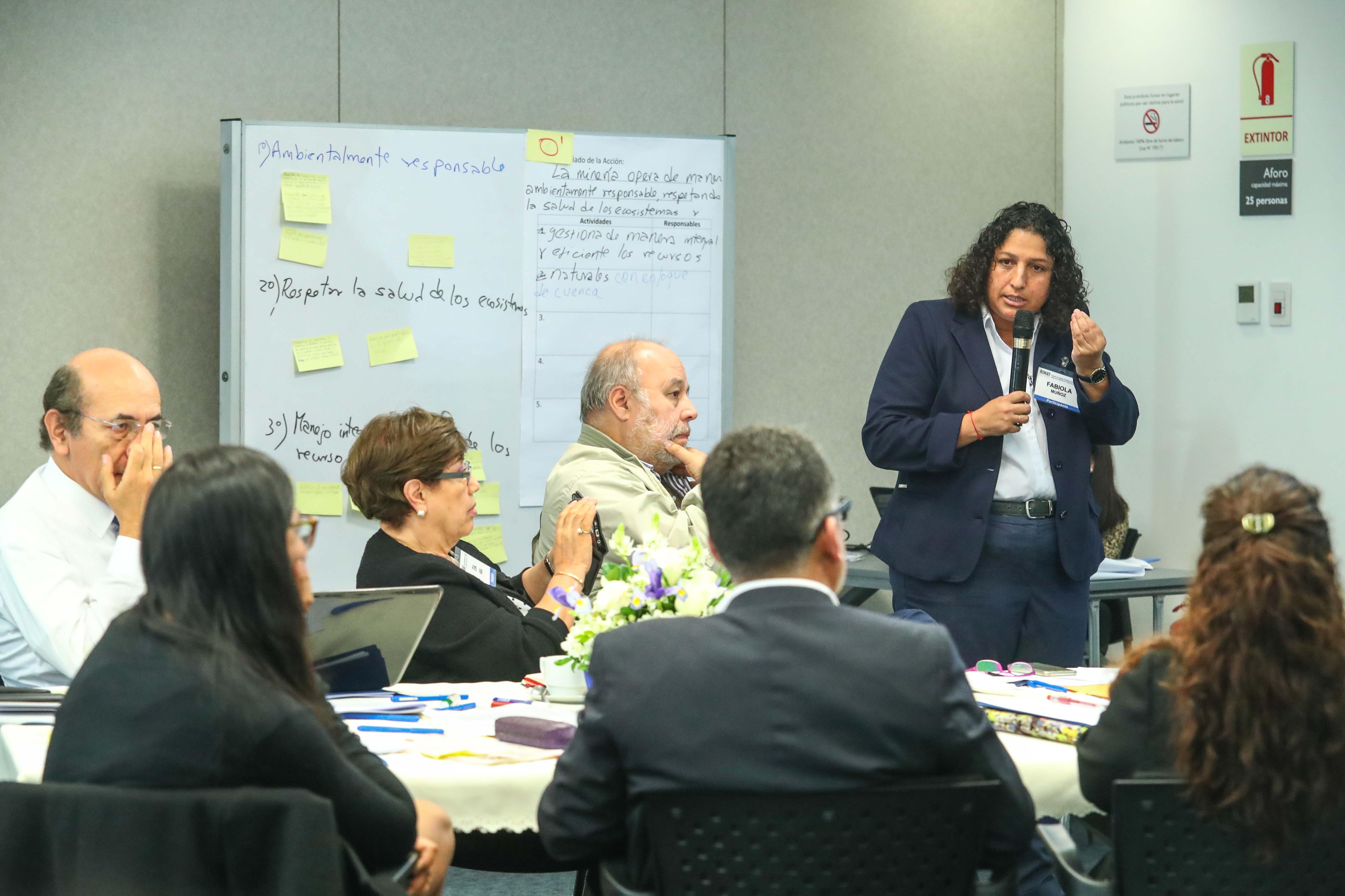 Fabiola Muñoz, ministra del ambiente