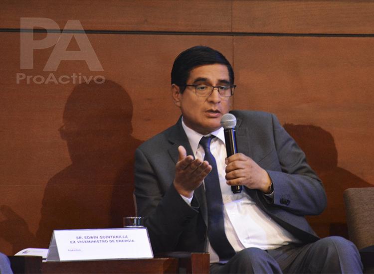 Edwin Quintanilla, Exviceministro de Energía.
