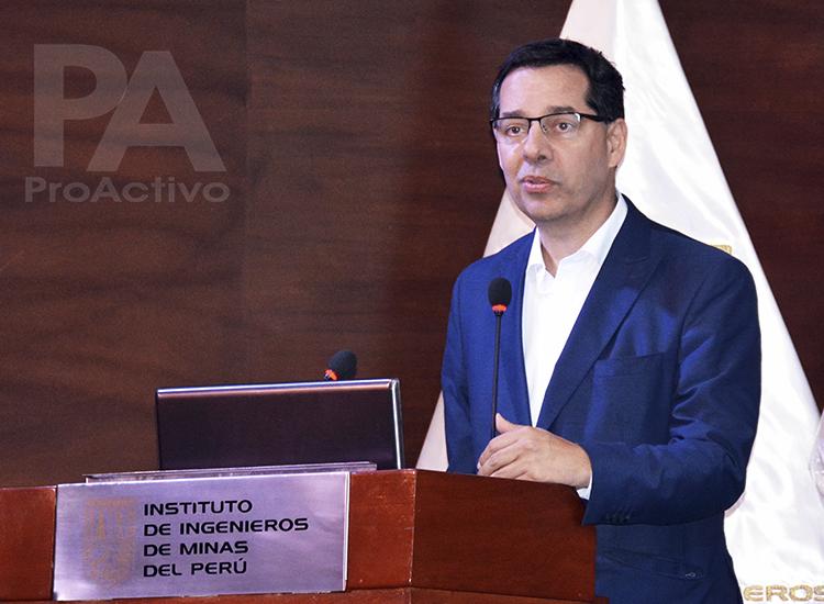 Jaime Gálvez Delgado, Director General de la Dirección General de Promoción y Sostenibilidad Minera del Ministerio de Energía y Minas.
