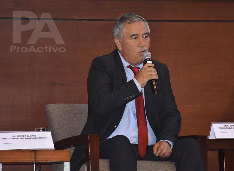 Walter Campos, Gerente del Programa de Agua e Infraestructura para el desarrollo de Asociación los Andes de Cajamarca – ALAC.