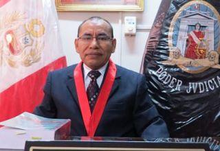 Adolfo Nicolás Cayra Quispe, presidente de la Corte Superior de Madre de