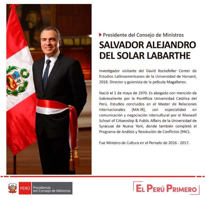 Salvador del solar jur como presidente del consejo de for Clausula suelo consejo de ministros