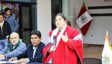 Ministra Fabiola Muñoz destacó los acuerdos logrados hoy en el grupo de trabajo de inversión y desarrollo en Espinar. (Foto: Andina)
