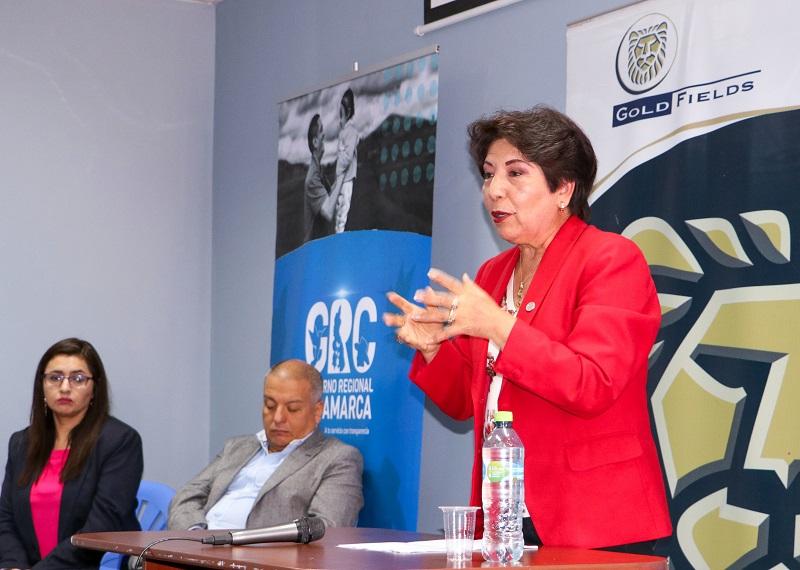 Angélica Bazán, Vice Gobernadora de Cajamarca