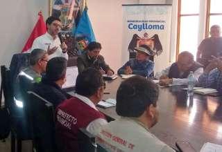 Viceministro de Minas, Augusto Cauti en Caylloma, Arequipa