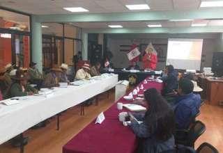 MTC reunión con autoridades de Espinar