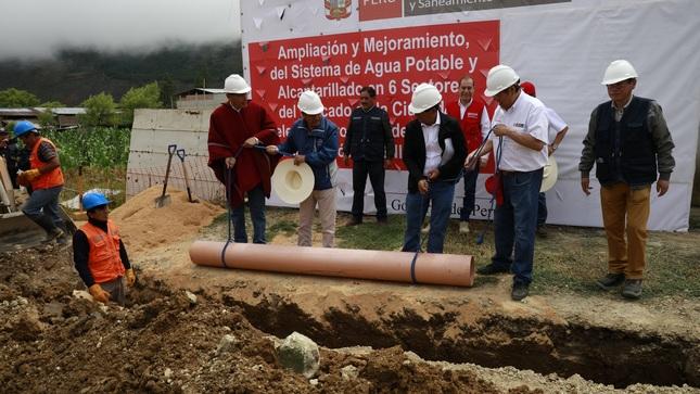Cajamarca: Gobierno ampliará la cobertura de agua potable y alcantarillado en Celendín
