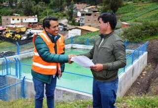 ANTAMINA Comunidad Campesina de Huaripampa inaugura nuevo reservorio