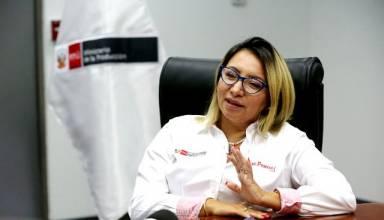 Rocío Barrios, ministra de la Producción