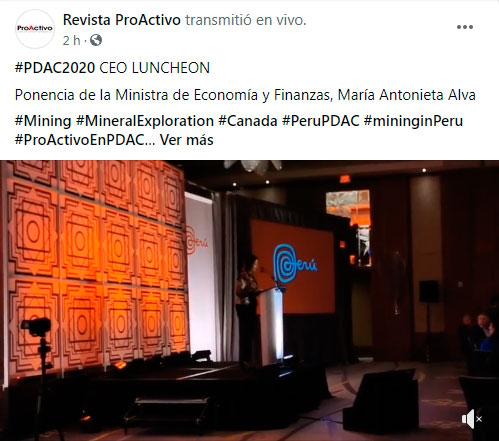 #PDAC2020 CEO LUNCHEON Ponencia de la Ministra de Economía y Finanzas, María Antonieta Alva (Video)