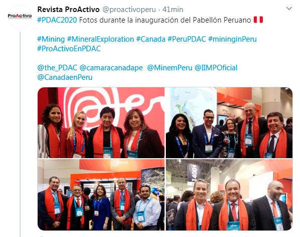 #PDAC2020 Fotos durante la inauguración del Pabellón Peruano.