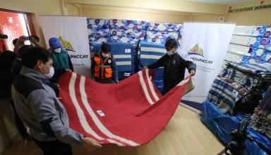 Antapaccay entregó donación de colchones, frazadas y mantas a la provincia de Espinar
